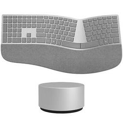 Microsoft Surface Ergonomic Keyboard Gray + Surface Dial - W