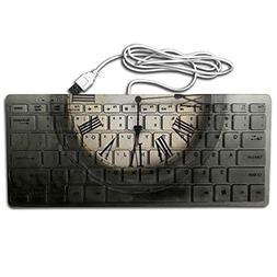 Time Printed PC USB Keyboard Shortcut 78 Keys Flexible Keybo