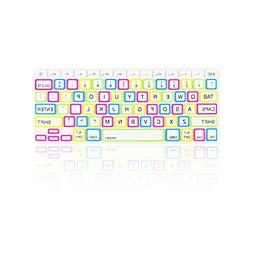 "TopCase Candy White Keyboard Cover Skin for Macbook 13"" Unib"