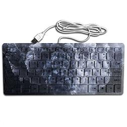Train Printed Computer Keyboards Large Print 78 Keys Flexibl