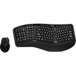 Adesso Tru-Form Media 1500 Wireless Ergonomic Keyboard & Las