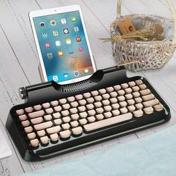 Typewriter Style Mechanical Wired & Wireless Keyboard with T