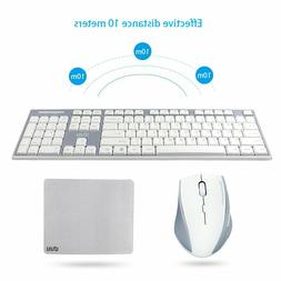 UHURU 2.4GHz Wireless Keyboard Mouse Compact Wireless Keyboa