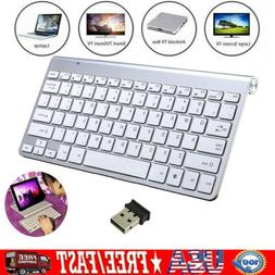 Ultra Slim 2.4GHz Wireless Keyboard For PC Computer Laptop A