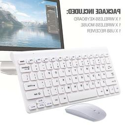 Ultra Slim 2.4GHz Wireless Keyboard With Mouse Mice Kit Set