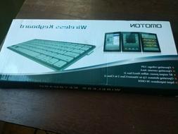 OMOTON Ultra-Slim Bluetooth Keyboard Compatible With iPad, i