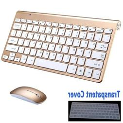 Ultra Thin Mini USB 2.4Ghz Wireless Keyboard & Mouse Kit Set