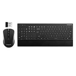 VicTsing Ultra-Thin Wireless Keyboard and Mouse Combo with P