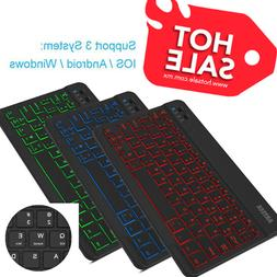 Universal Slim Wireless Bluetooth 3.0 7-Colors Backlit Keybo