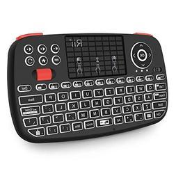 Rii i4 Mini Wireless Bluetooth Keyboard with Touchpad,LED Ba