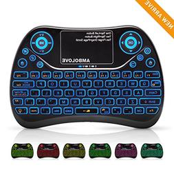 Mini Wireless Keyboard, Remote Keyboard with Multimedia Keys