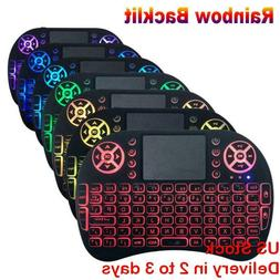 US 2.4GHz Mini Wireless i8 Keyboard 7 Colors Backlight Keypa