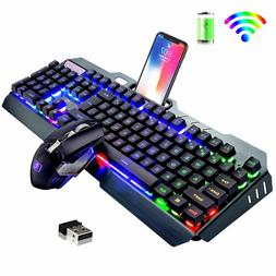 us wireless keyboard mouse led backlit rechargeable