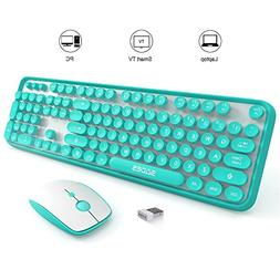 SADES V2020 Wireless Keyboard and Mouse Combo,Keyboard with