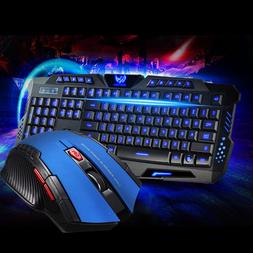 Wired USB Illuminated PC Ergonomic Gaming Keyboard LED and W