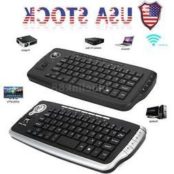 Wireless 2.4GHz Mini Keyboard 79 Keys Trackball Mouse Scroll