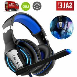 Gaming Headset Surround Sound Headphone w/Adjustable Headban