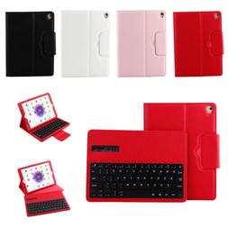 Wireless Bluetooth Keyboard Case Leather Cover For Apple iPa