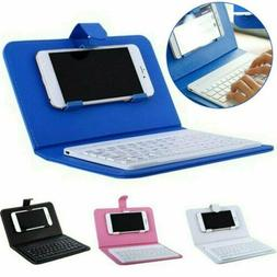 Wireless Bluetooth Keyboard Case Leather Stand Cover for Pho