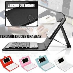 Wireless Bluetooth Keyboard Case Leather Stand Cover for iPh