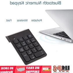Wireless Bluetooth Number Pad Numeric Keypad 18 Keys Digital