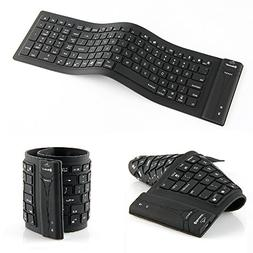 Wireless Folding Bluetooth Keyboard Silicone Bluetooth Keybo