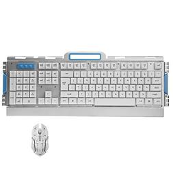 Easydeal Wireless 2.4G Gaming Keyboard and Adjustable DPI Op