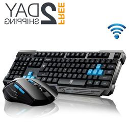 Wireless Gaming Keyboard And Mouse Combo USB Bundle Kit Set