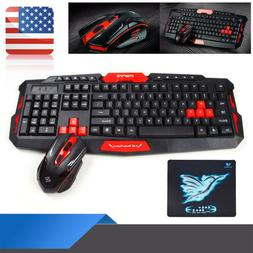 Wireless Gaming Keyboard + Mouse Set 2.4G For Computer/Lapto