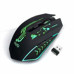 UHURU Wireless Gaming Mouse Rechargeable Up to 4800DPI 6 Pro