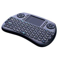 2.4GHz Wireless Keyboard with Mouse, Longruner Mini Touchpad