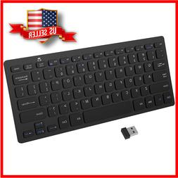 Wireless Keyboard 2.4G Ultra-Slim for Windows with USB Recei