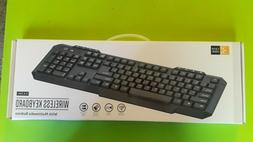 Case logic wireless keyboard 2.4GHZ with multimedia buttons