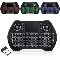 Wireless Keyboard with backlight,Mini Remote Keyboard with L