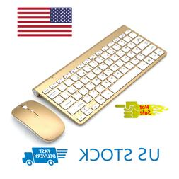 Wireless Keyboard and Cordless Mouse set 2.4G Silver Latptop
