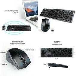 Wireless Keyboard And Mouse Combo, Uhuru 2.4G Usb Wireless K