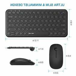 Wireless Keyboard and Mouse Combo Jelly Comb 2.4G KS45 Ultra