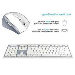 UHURU Wireless Keyboard and Mouse Combo, 2.4G Whisper Compac