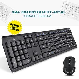 wireless keyboard and mouse combo bluetooth cordless