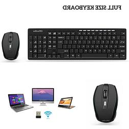 Wireless Keyboard and Mouse Combo  Desktop PC Laptop Compute