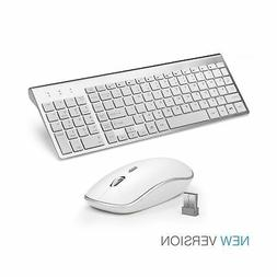 Wireless Keyboard and Mouse Combo Full-size, Whisper-quiet -