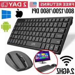 Wireless Keyboard And Mouse Combo Laptop Pc Computer MacBook