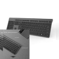 wireless keyboard and mouse combo portable black