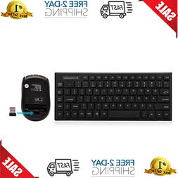 Wireless Keyboard And Mouse Combo,Rk700 2.4Ghz Ultra-Slim Mu