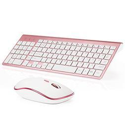 Wireless Keyboard and Mouse Combo, Stylish Compact Full-Size