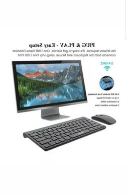 Wireless Keyboard and Mouse Combo UPWADE 2.4GHz.