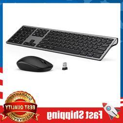 Wireless Keyboard & Mouse,Slim Keyboard Mice,2.4GHz 109 Keys