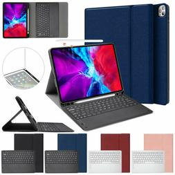 Wireless Keyboard PU Leather Stand Protect Case Cover For iP