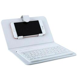 Wireless Keyboard Case Leather Stand Cover for Phone iOS And