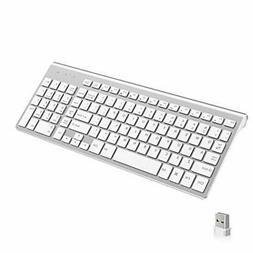 Wireless Keyboard, J JOYACCESS 2.4G Slim and Compact Wireles